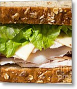 Smoked Turkey Sandwich Metal Print by Edward Fielding