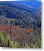 Smokey Mountain Pass Metal Print