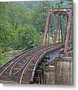 Smokey Mountain Railroad Steel Girder Bridge Metal Print