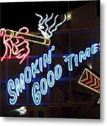 Smokin Good Times In Las Vegas Metal Print
