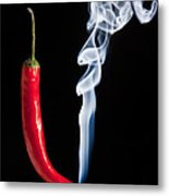 Smoking Red Hot Chilli Pepper  Metal Print