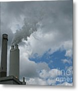 Smoking Stack Metal Print