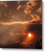 Smoky Clouds Over The Rogue Valley Metal Print