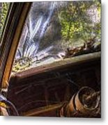 Smoky Crack Lower Left Windshield 2 Metal Print