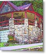 Old Log Cabin - Smoky Mountain Home Metal Print