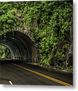 Smoky Mountain Tunnel In The Rain E123 Metal Print