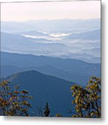 Smoky Mountains From Clingmans Dome Metal Print