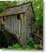 Smoky Mountains Grist Mill Metal Print
