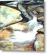 Smoky Mountains Waterfall Metal Print