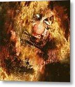 Smoky The Voodoo Clown Doll  Metal Print