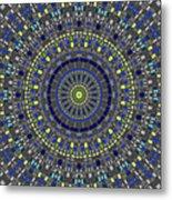 Smooth Squares Kaleidoscope Metal Print