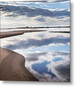 Smooth Water Reflections Metal Print