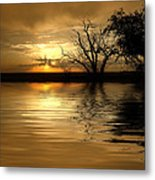 Smooth Yellow Metal Print