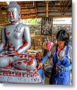Smoothing Buddha Metal Print