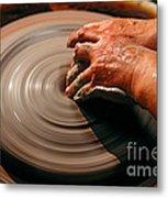 Smoothing Clay Metal Print