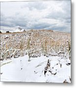 Smuggler's Beach Snow Cape Cod Metal Print