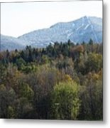 Smugglers Notch From Cambridge Vermont Metal Print