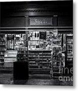 Snack Shop Bw Metal Print
