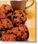 Snack Time - Muffins And Coffee Metal Print