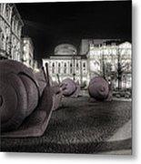 Snails Attack Milan Bw Metal Print