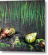 Snails In The Forest  Metal Print