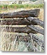 Snake Fence And Sage Brush Metal Print