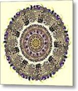 Snake Mandala Metal Print
