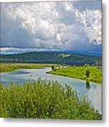 Snake River By Oxbow Bend In Grand Teton National Park-wyoming Metal Print