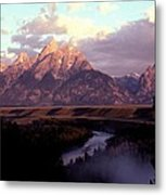Snake River Overlook At Dawn  Metal Print