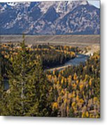 Snake River Overlook One Metal Print