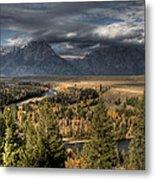 Snake River Storm Metal Print