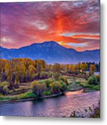 Snake River Sunrise Metal Print