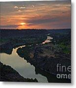 Snake River Sunset Metal Print