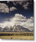 Snake River Valley Grand Teton Np Metal Print
