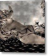 Snake Metal Print by Theda Tammas