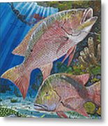 Snapper Spear Metal Print by Carey Chen
