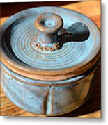 Snickerhaus Pottery-vessel With Lid Metal Print
