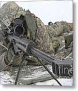 Snipers Provide Overwatch At Fort Metal Print