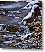 Snow And Ice Water And Rock Metal Print by Dale Kincaid