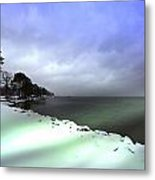 Snow And Sand Unite Metal Print