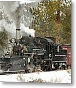 Snow And Steam Metal Print