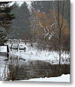 Snow And Stream Metal Print
