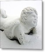 Snow Angel Figurine Metal Print