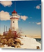 Snow At Cheboygan Crib Metal Print