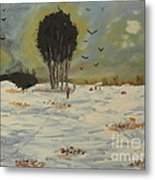 Snow At Christmas Metal Print