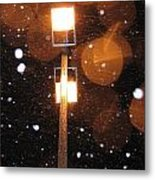 Snow At Night - 1777 Metal Print