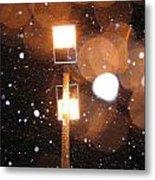 Snow At Night - 1779 Metal Print