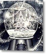 Snow Ball Metal Print by Mo T