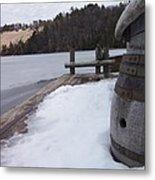 Snow Barrel Metal Print