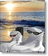 Snow Bird Vacation Metal Print